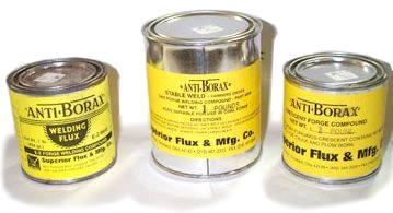 Anti-Borax Fluxes
