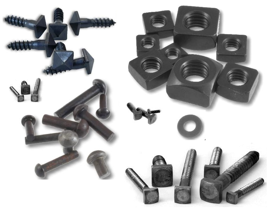 "25//pack 3//8 X 1-1//2/"" Square Head Lag Bolts BLACK OXIDE Screws Rustic Antique"