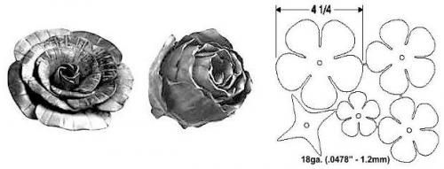 Forged Steel Rose